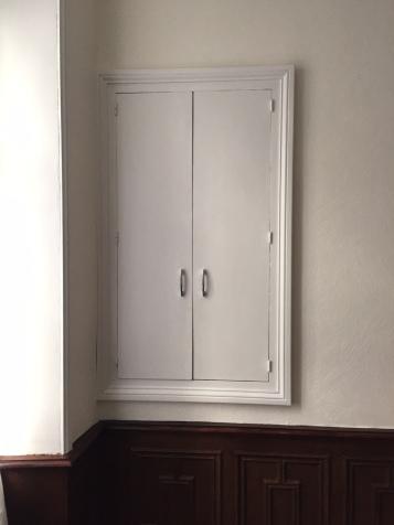 La Sacré Cœur Cœur cupboard before