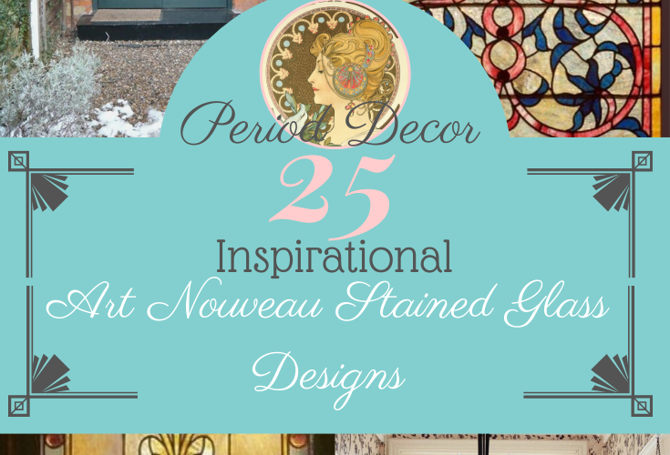 25 Inspirational Art Nouveau Stained Glass Designs