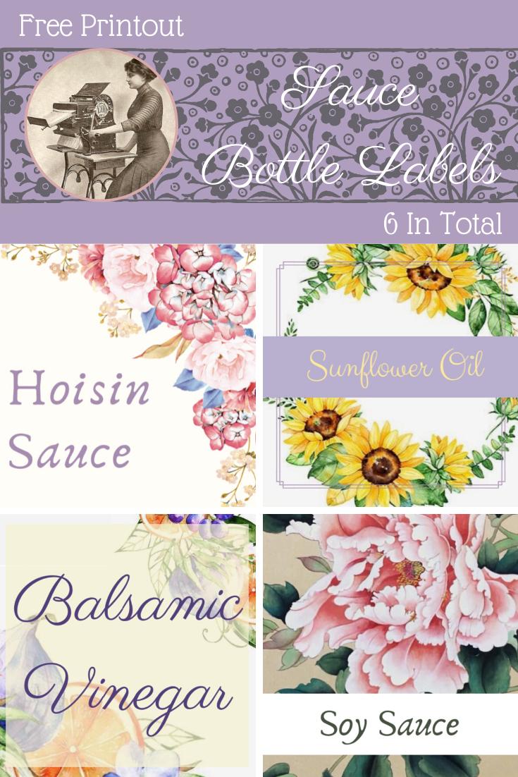 Sauce Bottle Labels