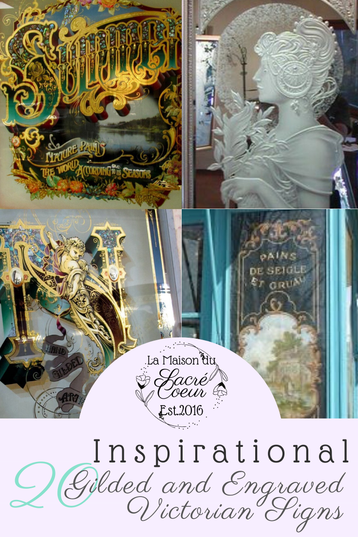 Gilded and Engraved Victorian Signs